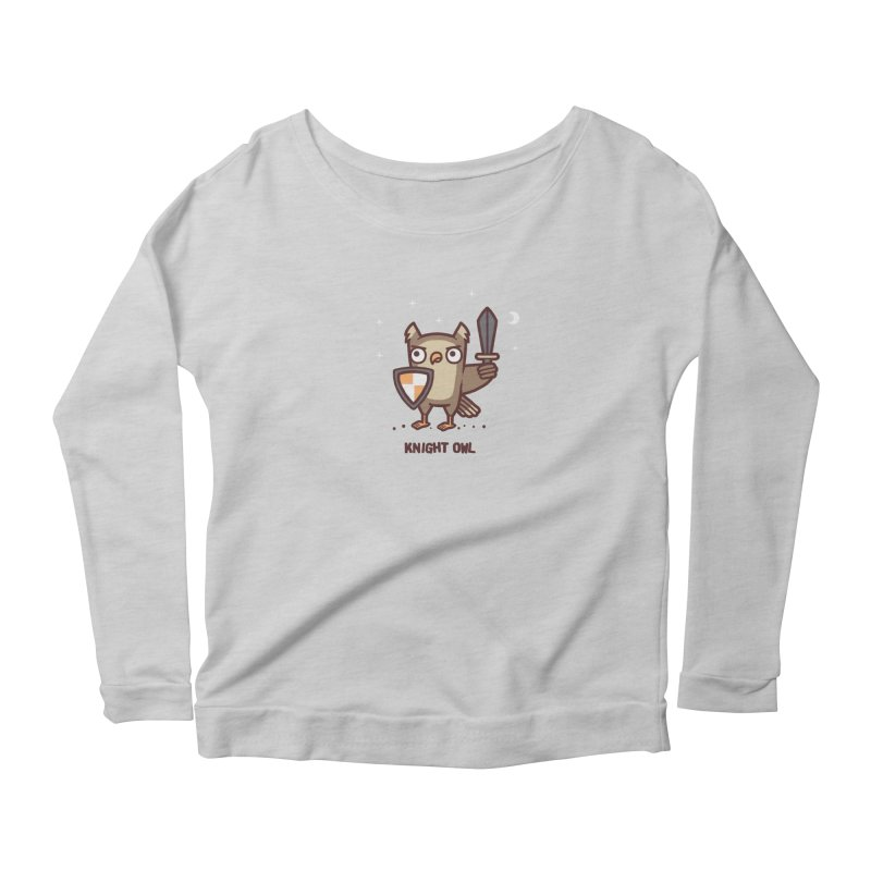 Knight owl Women's Scoop Neck Longsleeve T-Shirt by Randyotter