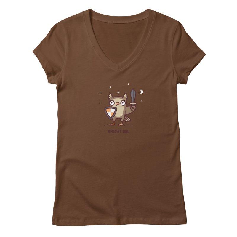 Knight owl Women's Regular V-Neck by Randyotter
