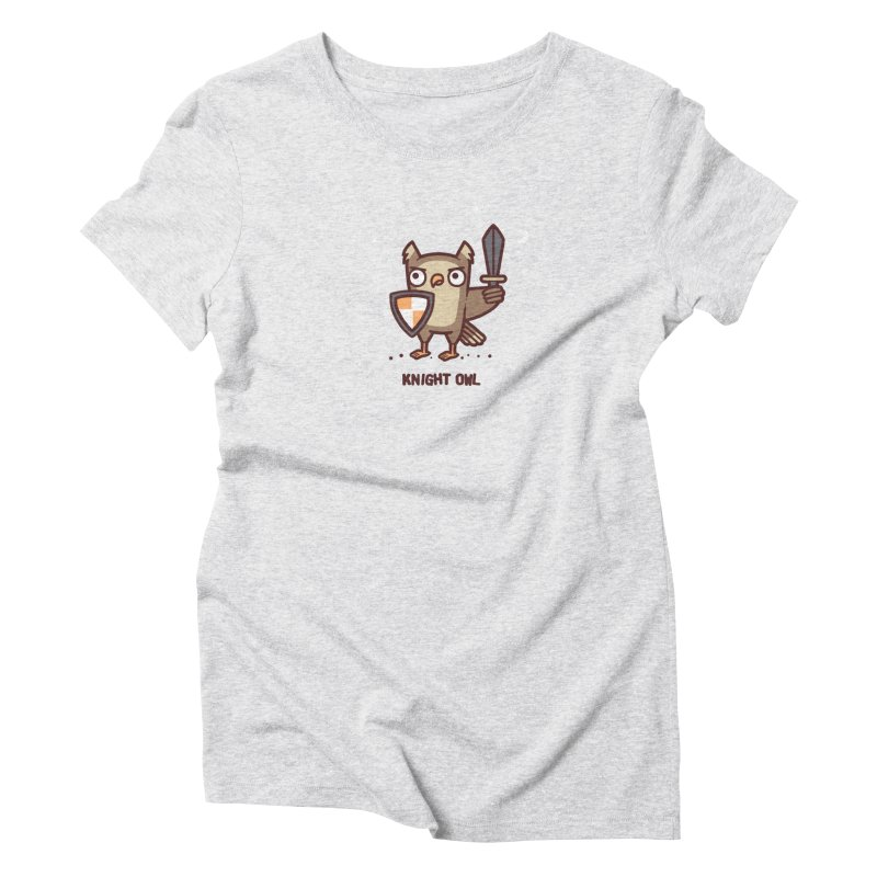 Knight owl Women's Triblend T-Shirt by Randyotter