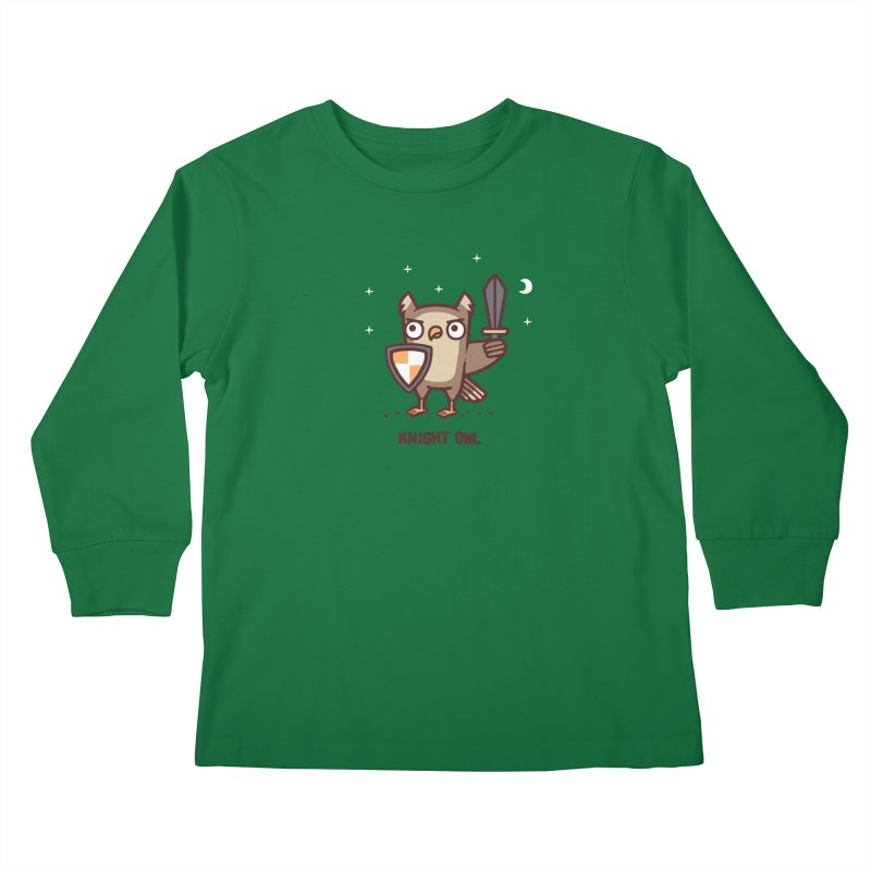 Knight owl Kids Longsleeve T-Shirt by Randyotter