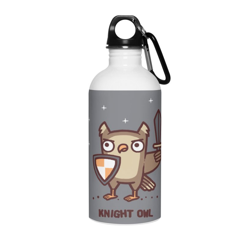 Knight owl Accessories Water Bottle by Randyotter