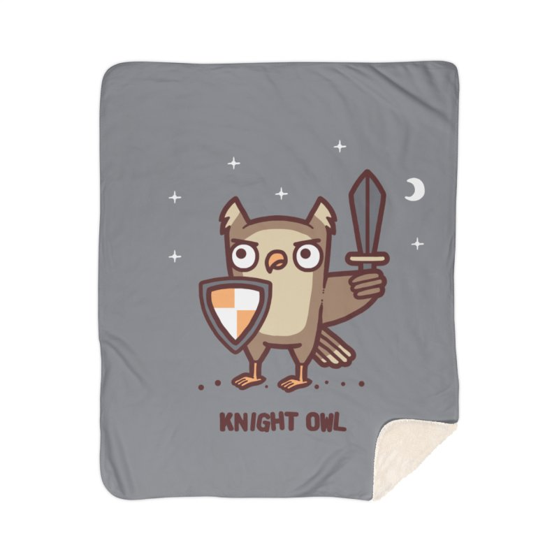 Knight owl Home Sherpa Blanket Blanket by Randyotter