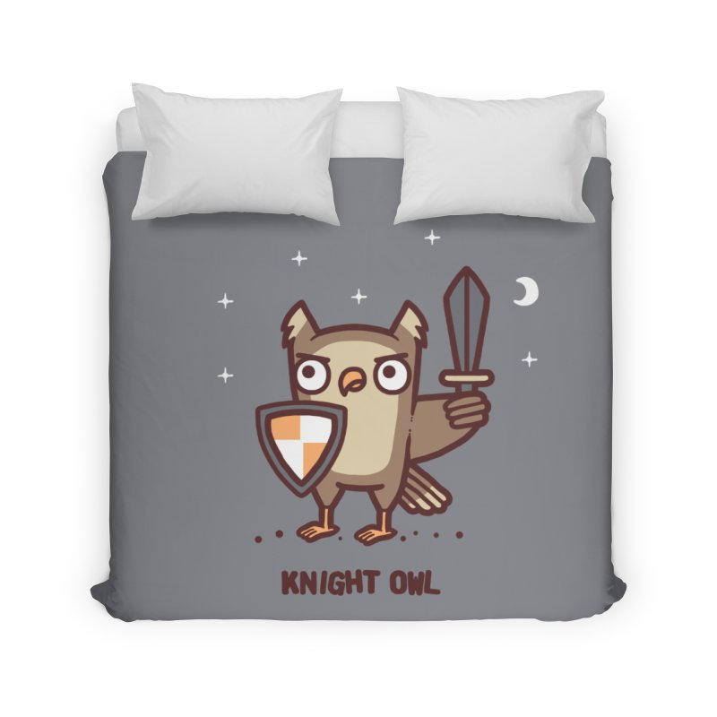 Knight owl Home Duvet by Randyotter
