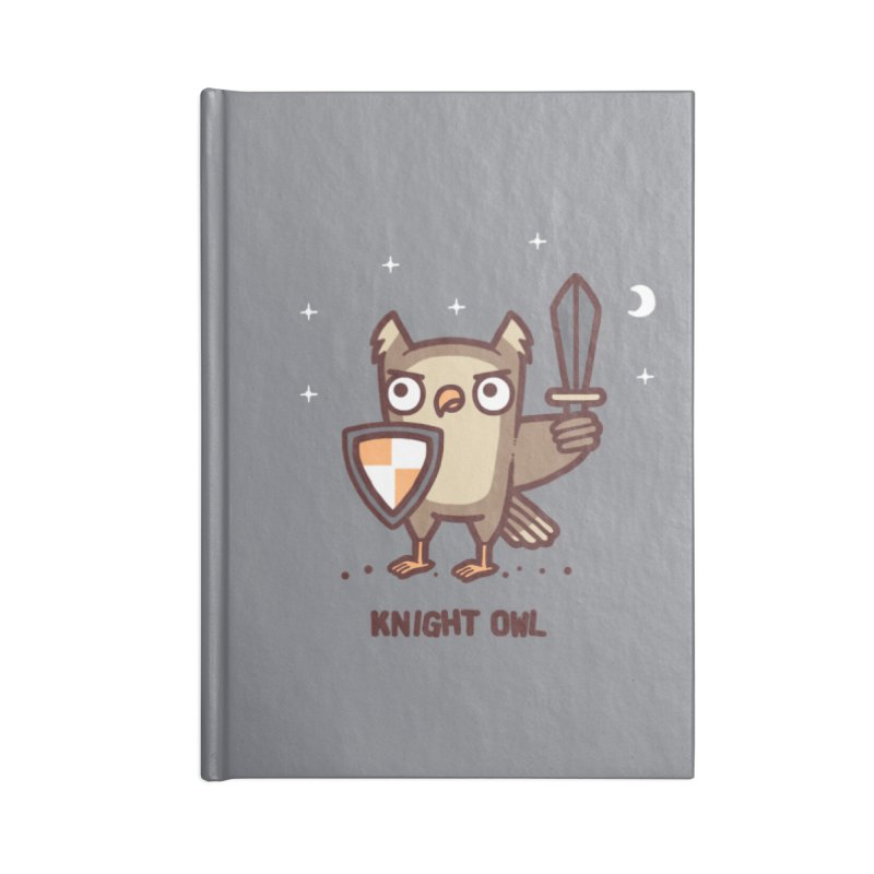 Knight owl Accessories Blank Journal Notebook by Randyotter