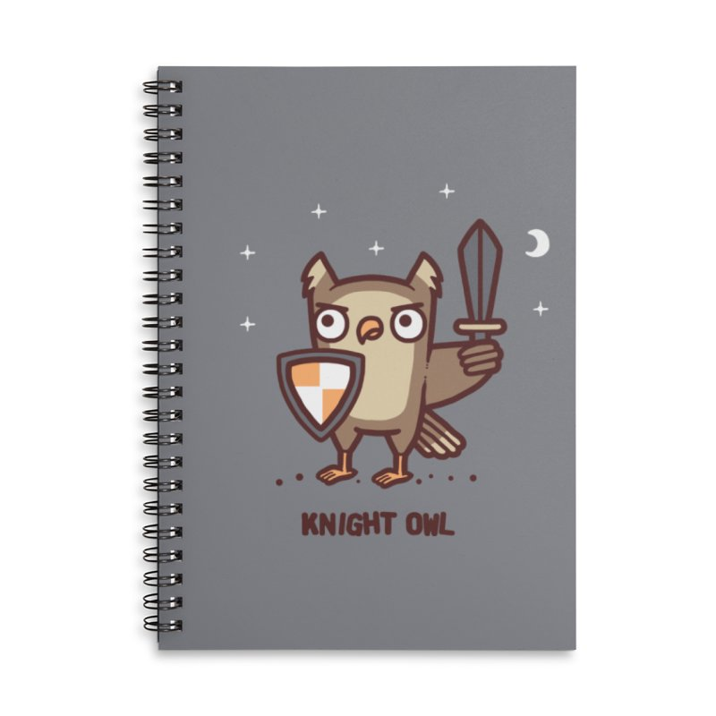 Knight owl Accessories Lined Spiral Notebook by Randyotter