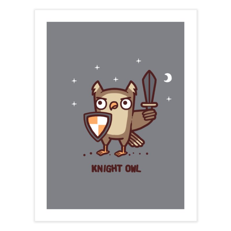 Knight owl Home Fine Art Print by Randyotter