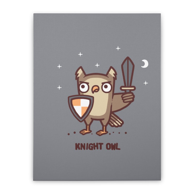Knight owl Home Stretched Canvas by Randyotter