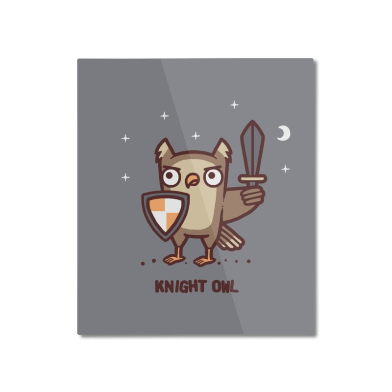 Knight owl Home Mounted Aluminum Print by Randyotter