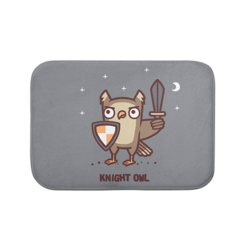 Knight owl Home Bath Mat by Randyotter