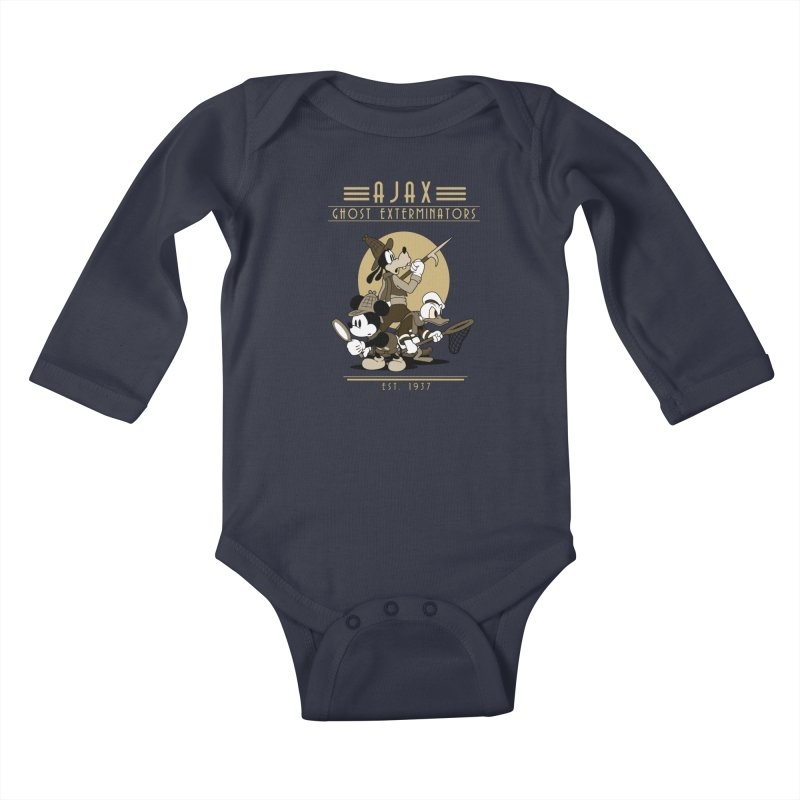 Ghost Exterminators Kids Baby Longsleeve Bodysuit by Randy van der Vlag's Shop