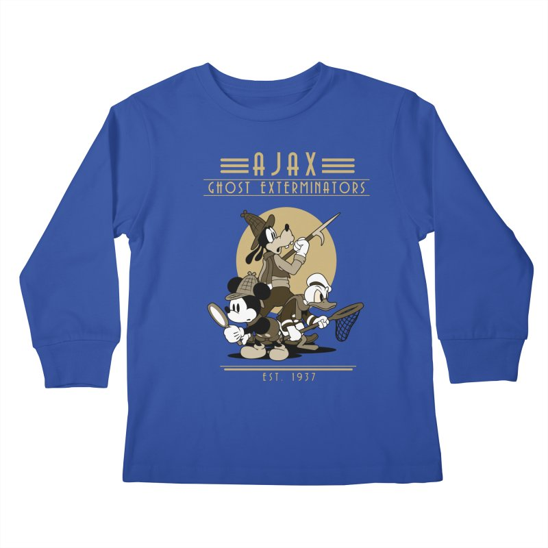 Ghost Exterminators Kids Longsleeve T-Shirt by Randy van der Vlag's Shop