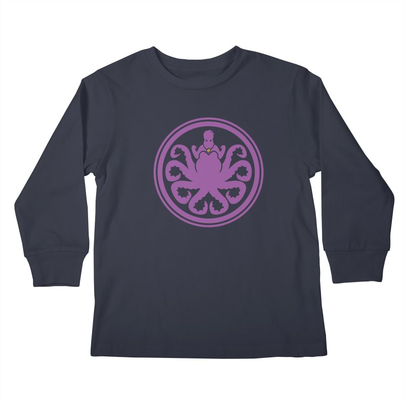 Hail Ursula Kids Longsleeve T-Shirt by Randy van der Vlag's Shop