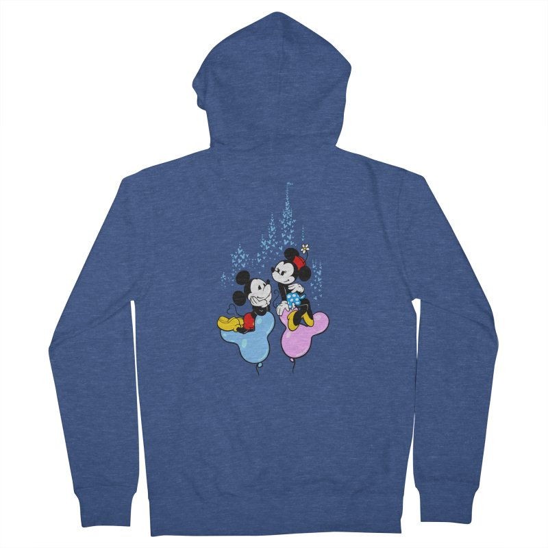 Mouse Balloons Men's French Terry Zip-Up Hoody by Randy van der Vlag's Shop