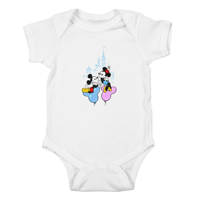 Mouse Balloons Kids Baby Bodysuit by Randy van der Vlag's Shop