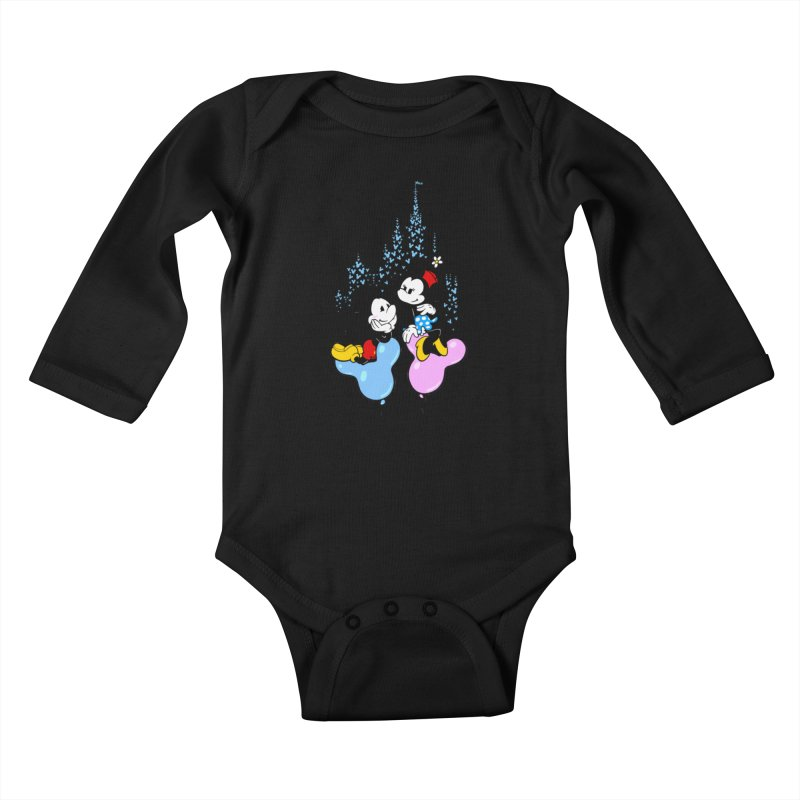 Mouse Balloons Kids Baby Longsleeve Bodysuit by Randy van der Vlag's Shop