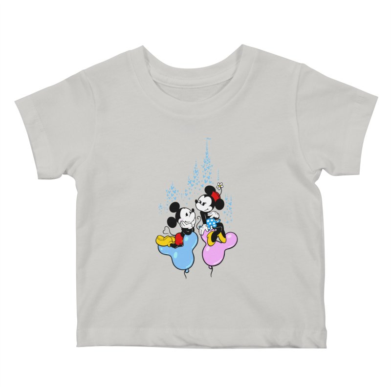 Mouse Balloons Kids Baby T-Shirt by Randy van der Vlag's Shop
