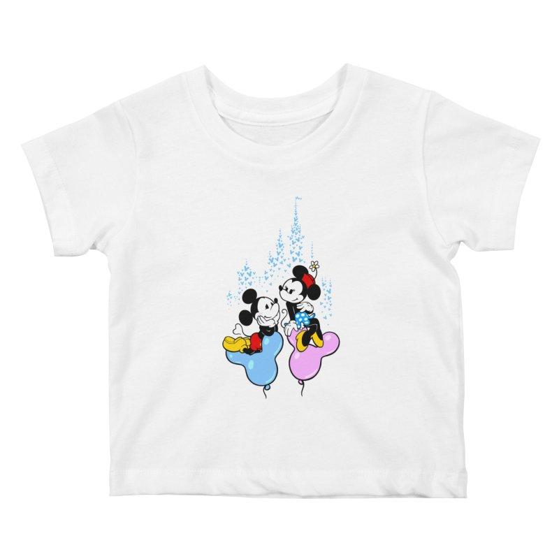 Mouse Balloons Kids Baby T-Shirt by Randy van der Vlag's Shop