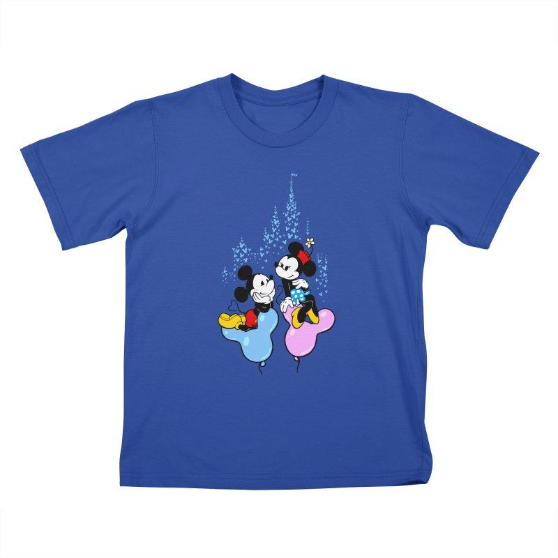 Mouse Balloons Kids T-shirt by Randy van der Vlag's Shop