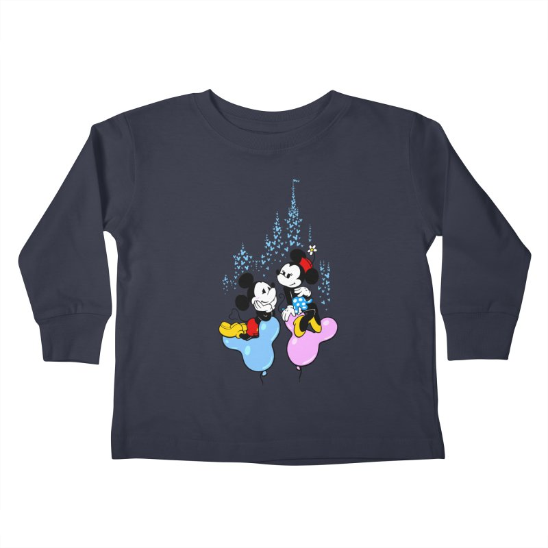 Mouse Balloons Kids Toddler Longsleeve T-Shirt by Randy van der Vlag's Shop