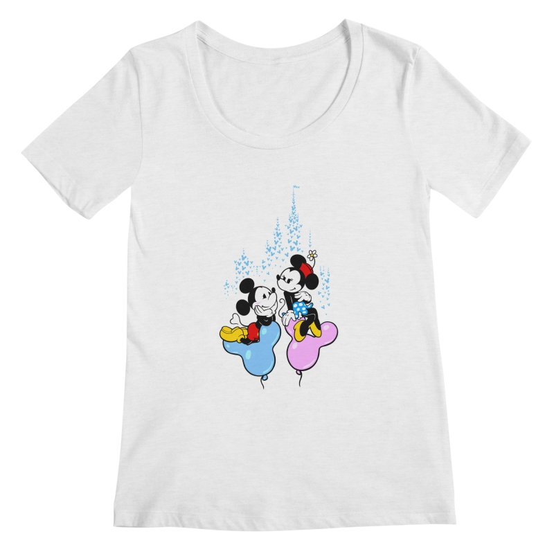 Mouse Balloons Women's Scoopneck by Randy van der Vlag's Shop