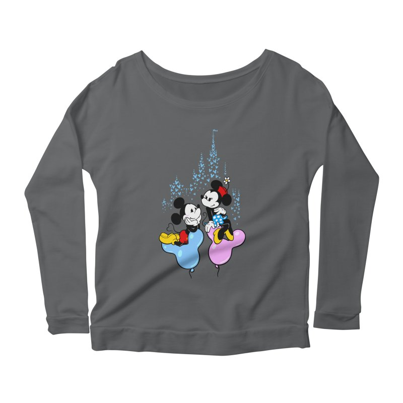 Mouse Balloons Women's Longsleeve Scoopneck  by Randy van der Vlag's Shop