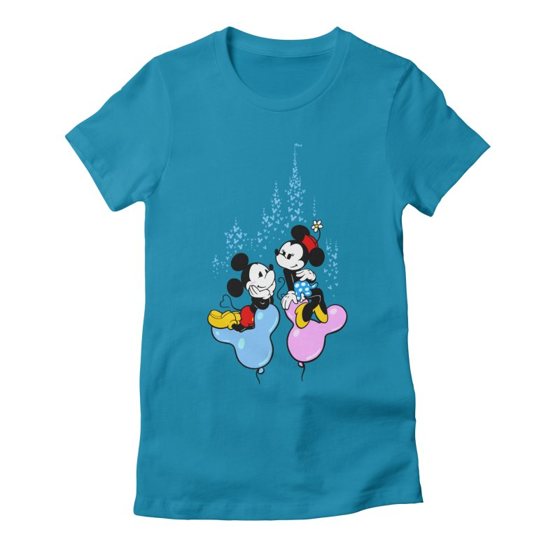 Mouse Balloons Women's Fitted T-Shirt by Randy van der Vlag's Shop