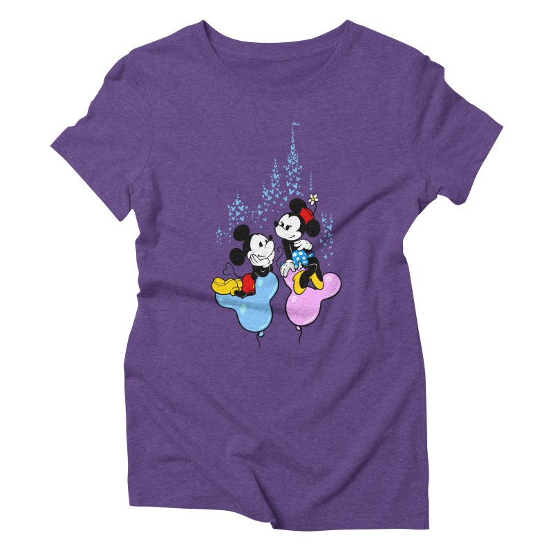 Mouse Balloons Women's Triblend T-Shirt by Randy van der Vlag's Shop