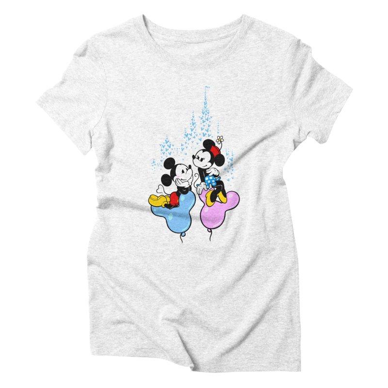 Mouse Balloons Women's Triblend T-shirt by Randy van der Vlag's Shop