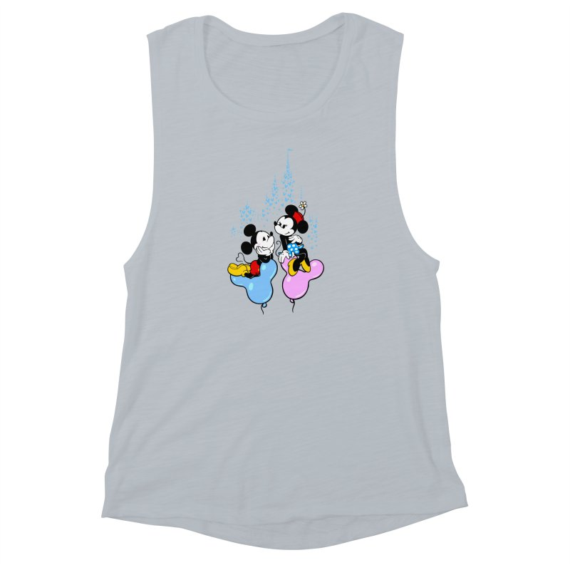 Mouse Balloons Women's Muscle Tank by Randy van der Vlag's Shop