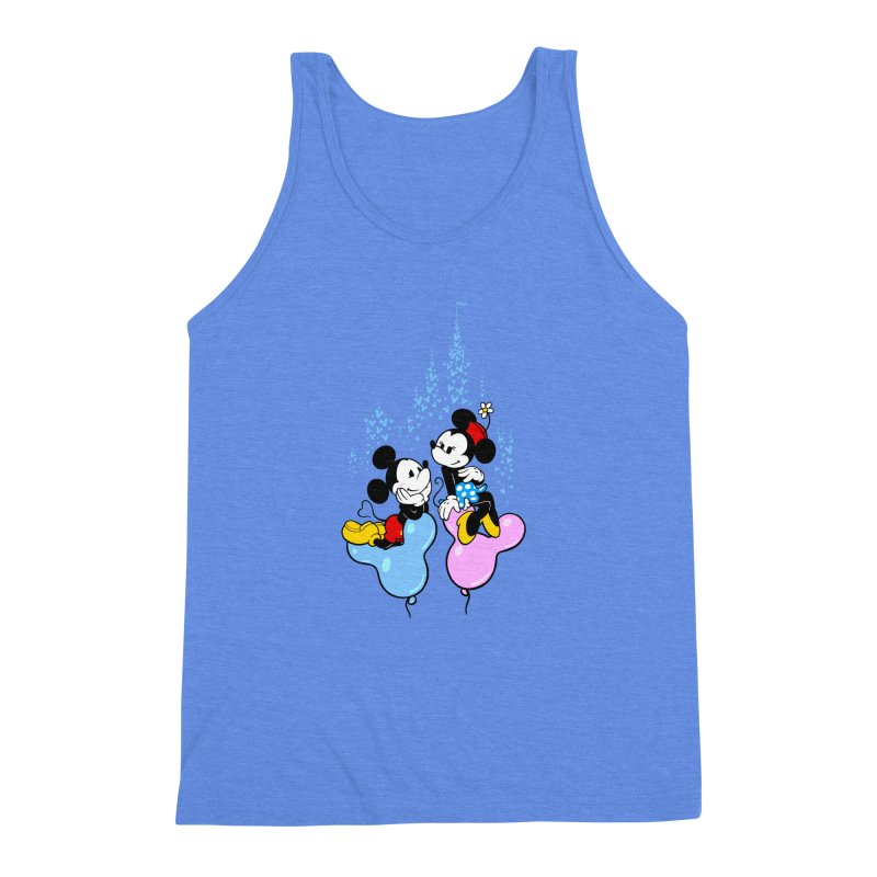 Mouse Balloons Men's Triblend Tank by Randy van der Vlag's Shop