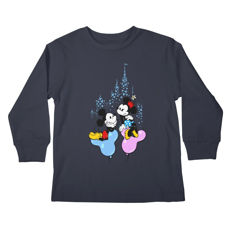 Mouse Balloons Kids Longsleeve T-Shirt by Randy van der Vlag's Shop