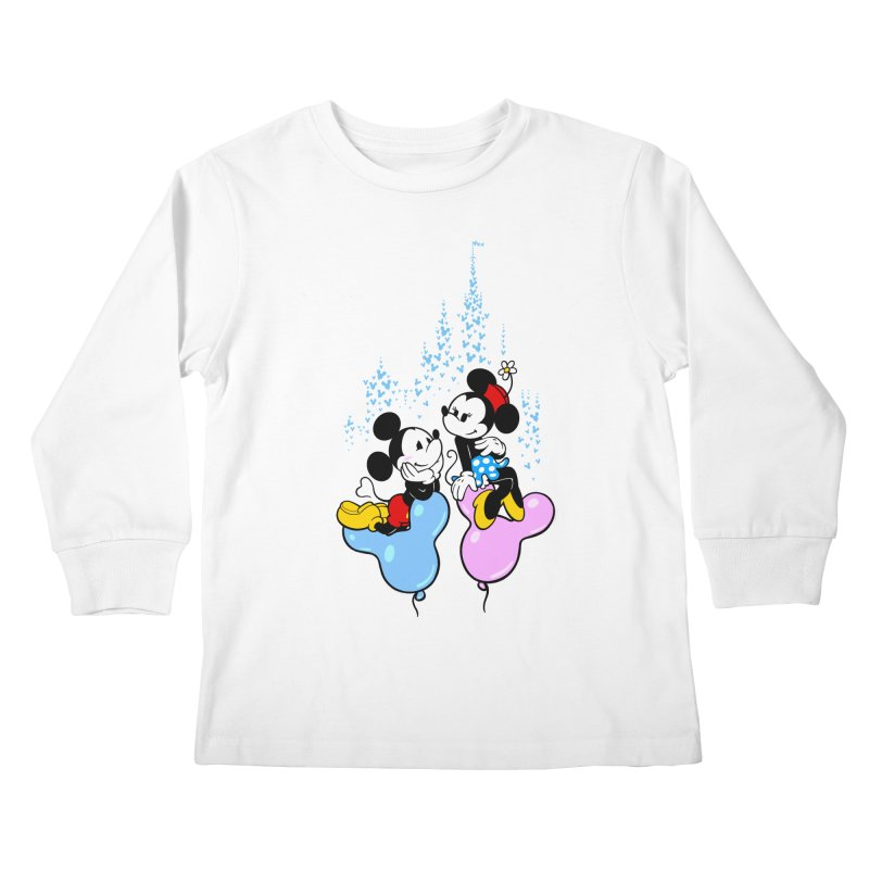 Mouse Balloons Kids Longsleeve T-Shirt by Randy van der Vlag's Shop