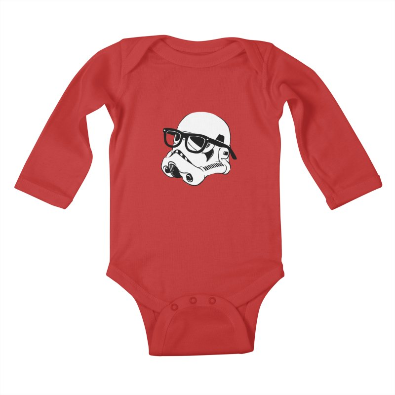Nerd Trooper Kids Baby Longsleeve Bodysuit by Randy van der Vlag's Shop
