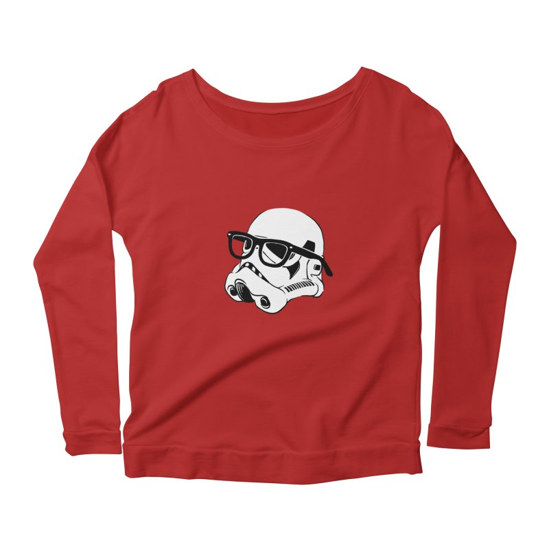 Nerd Trooper Women's Longsleeve Scoopneck  by Randy van der Vlag's Shop