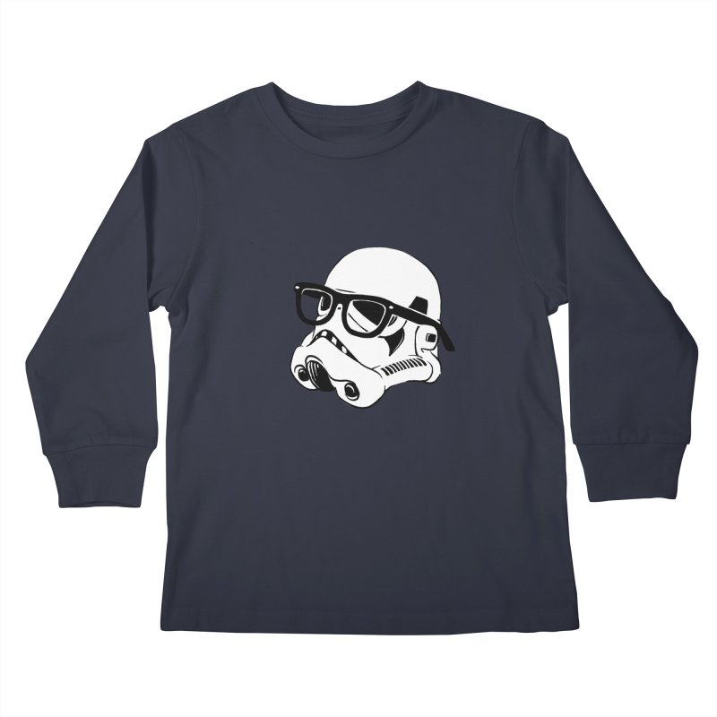 Nerd Trooper Kids Longsleeve T-Shirt by Randy van der Vlag's Shop