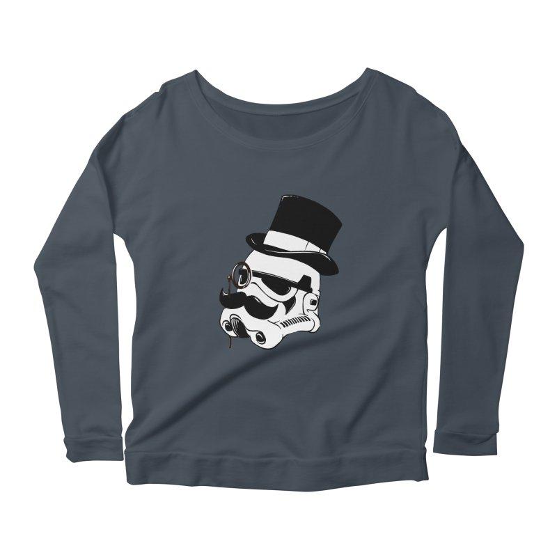 Gentleman Trooper Women's Scoop Neck Longsleeve T-Shirt by Randy van der Vlag's Shop