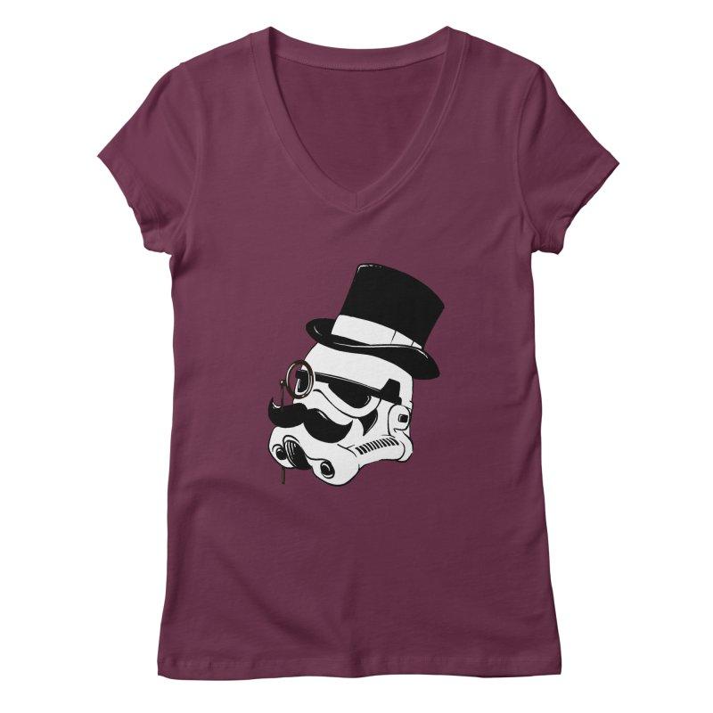 Gentleman Trooper Women's V-Neck by Randy van der Vlag's Shop