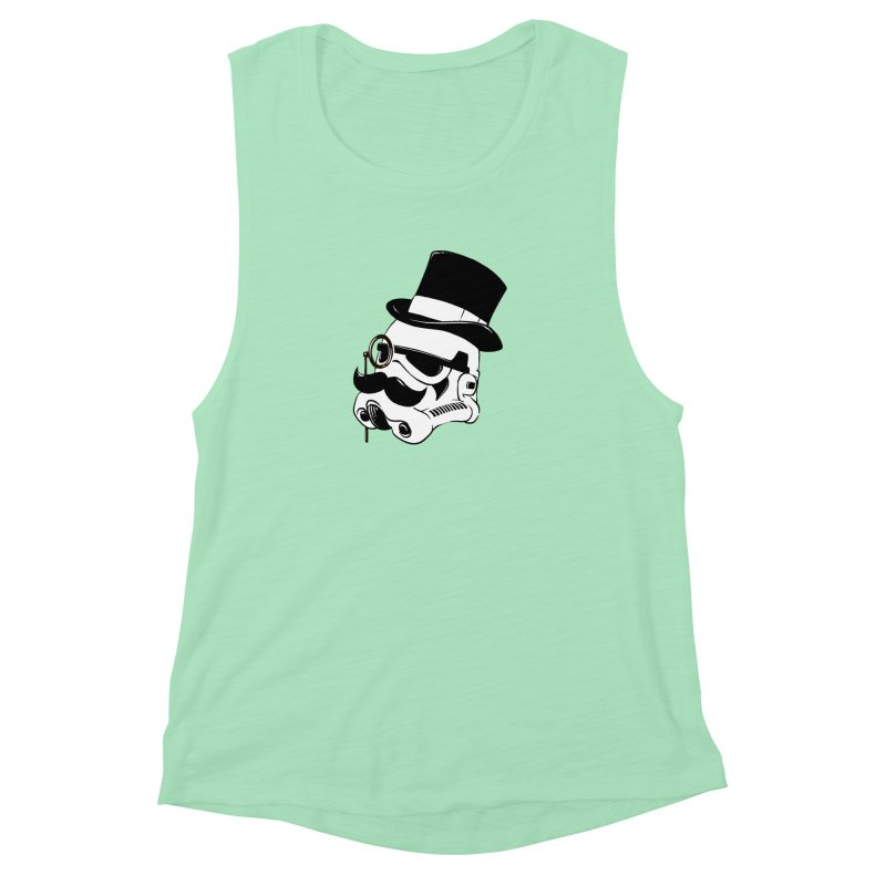 Gentleman Trooper Women's Muscle Tank by Randy van der Vlag's Shop