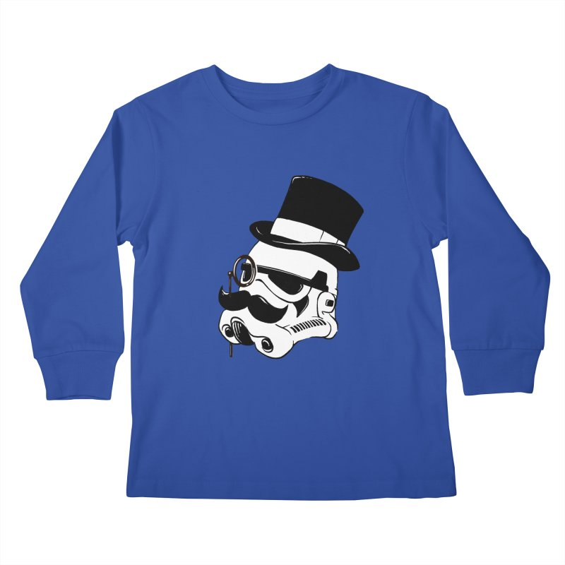 Gentleman Trooper Kids Longsleeve T-Shirt by Randy van der Vlag's Shop