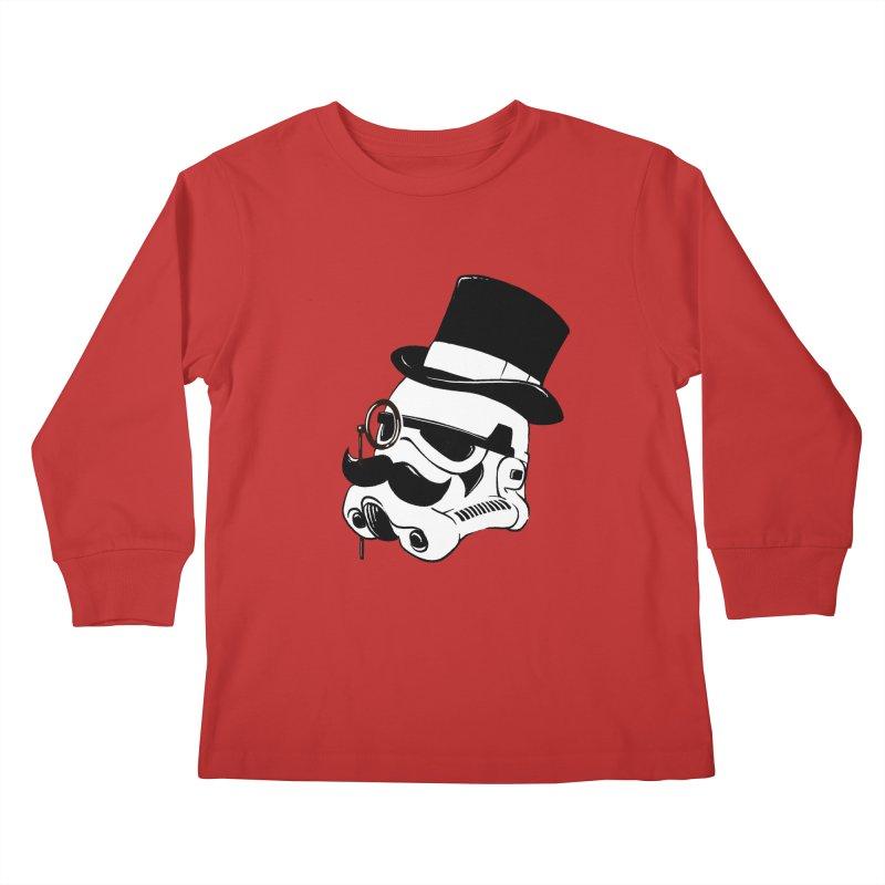 Gentleman Trooper Kids Longsleeve T-Shirt by Randy van der Vlag's Shop
