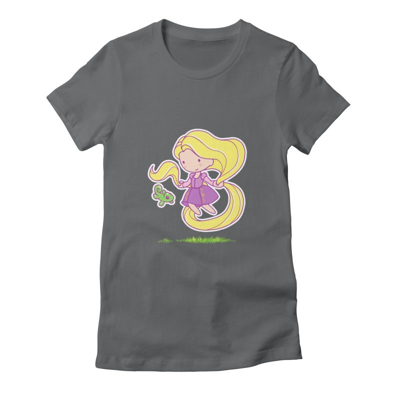 Little Rapunzel Women's Fitted T-Shirt by Randy van der Vlag's Shop