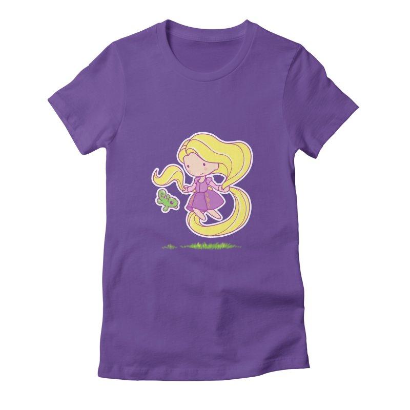 Little Rapunzel Women's Fitted T-Shirt by Randy van der Vlag's Shop