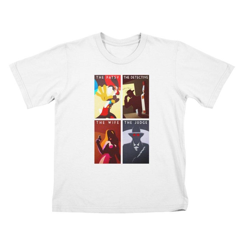 Who Set Up The Rabbit Kids T-shirt by Randy van der Vlag's Shop