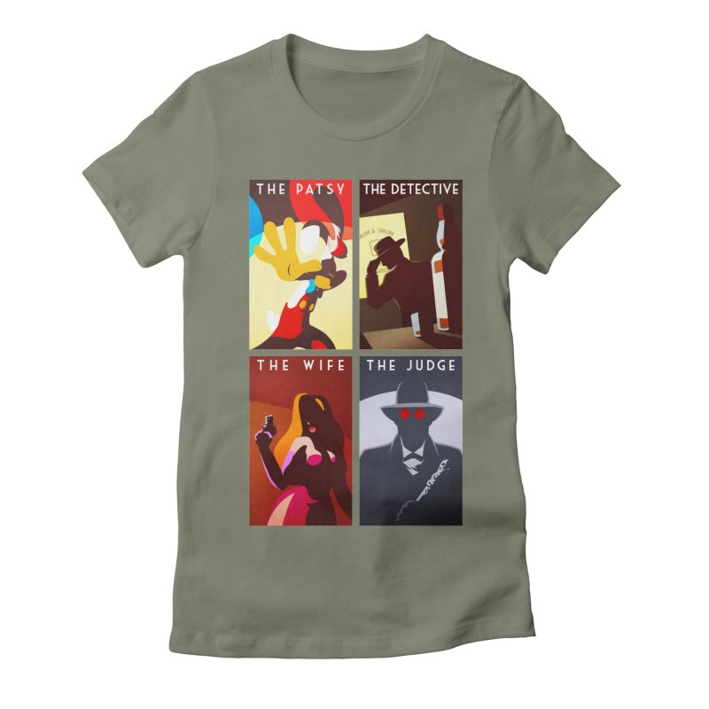 Who Set Up The Rabbit Women's Fitted T-Shirt by Randy van der Vlag's Shop