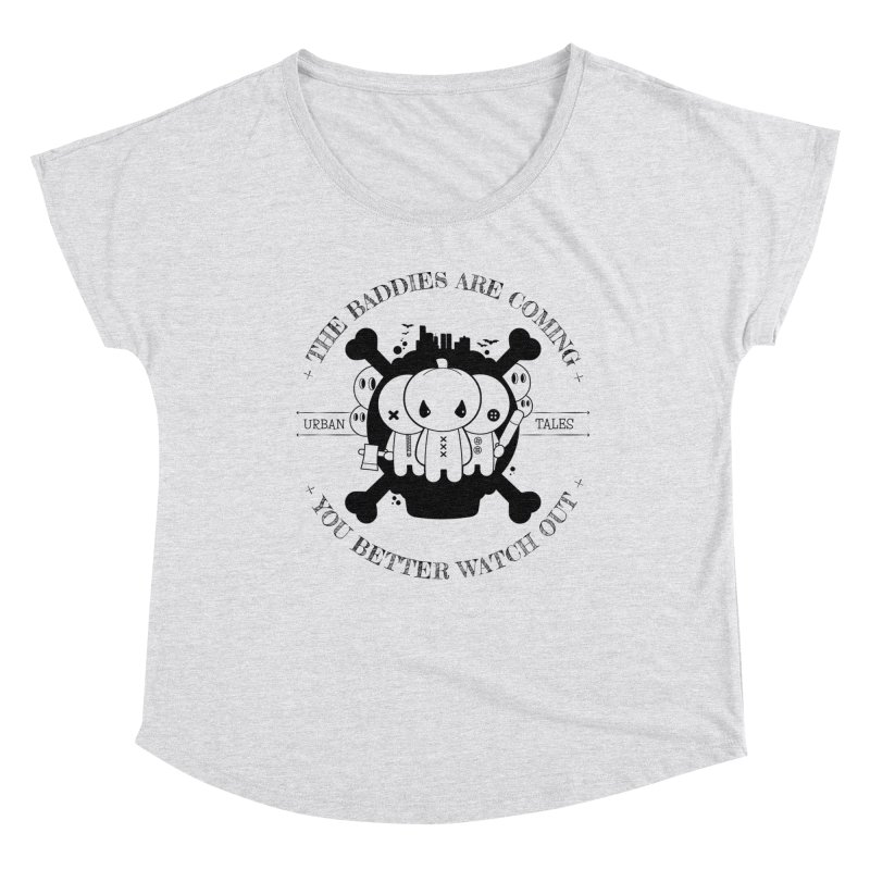 URBAN TALES: THE BADDIES ARE COMING Women's Scoop Neck by NOMAKU