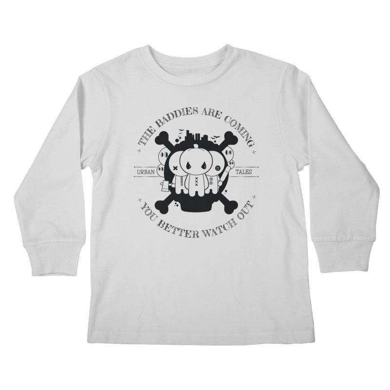 URBAN TALES: THE BADDIES ARE COMING Kids Longsleeve T-Shirt by NOMAKU