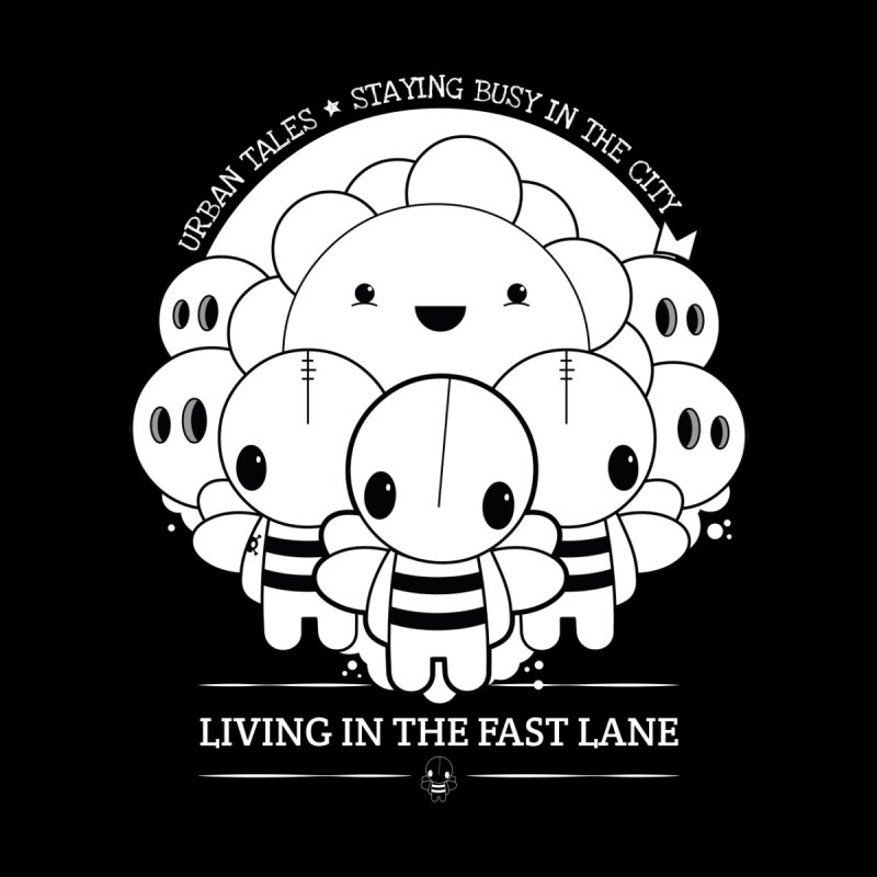 URBAN TALES: LIVING IN THE FAST LANE Kids T-Shirt by NOMAKU