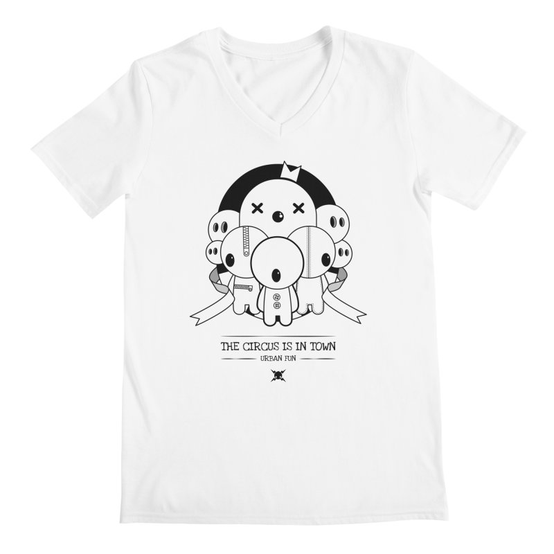 URBAN FUN: THE CIRCUS IS IN TOWN Men's V-Neck by NOMAKU
