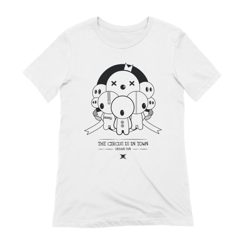 URBAN FUN: THE CIRCUS IS IN TOWN Women's T-Shirt by NOMAKU