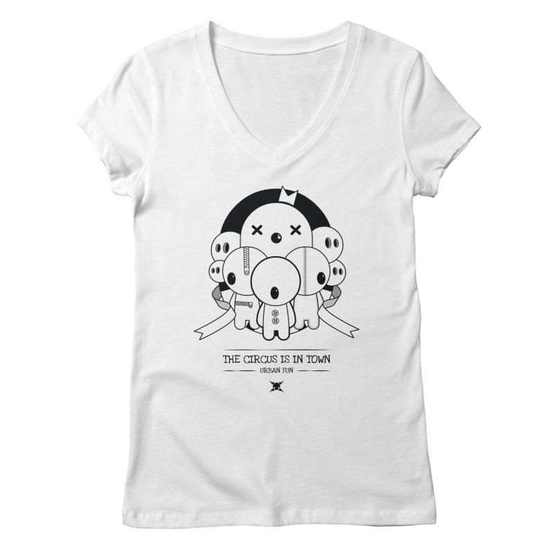 URBAN FUN: THE CIRCUS IS IN TOWN Women's V-Neck by NOMAKU